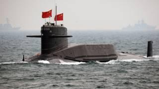 一艘中國海軍潛艇(資料圖片)