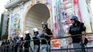 Македонія, поліція, кольорові протести