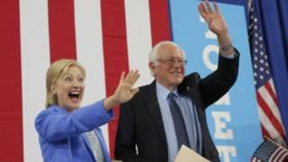 Сандерс и Клинтон