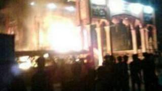 寺廟遭襲現場。