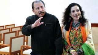 Vợ chồng Tổng thống Nicaragua, ông Daniel Ortega và bà Rosario Murillo
