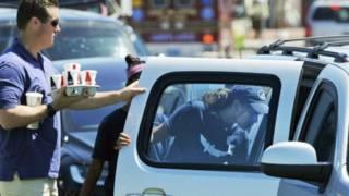薩莎·奧巴馬下班後被保安開車接走