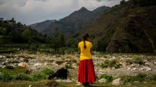 Женщина в Непале