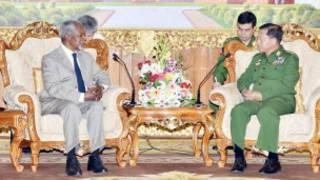 Kofi Anan and Senior General Min Aung Hlaing