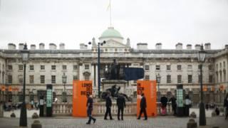 首届伦敦设计双年展现场萨默塞特宫(摄影:陈彦安)
