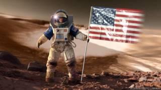 太空人在火星设计图画