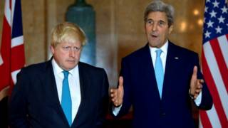 Boris Johnson dan John Kerry