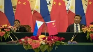 Presiden Rodrigo Duterte dan Presiden Xi Jinping