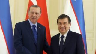 Президент Ердоган зустрівся в Самарканді з президентом Узбекистану Шавкатом Мірзійоєвим