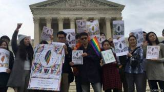 """11月30日,由海外台湾人发起的""""海外台湾人支持修正民法,力挺婚姻平权!""""运动,由美国华盛顿特区揭开序幕"""