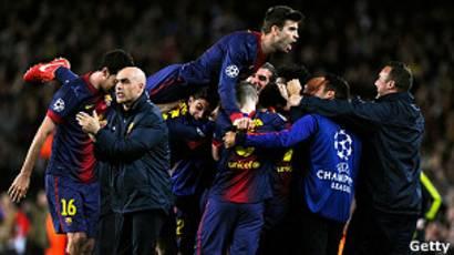 Футбол. лига чемпионов. полуфинал. барселона испания челси лондон англия