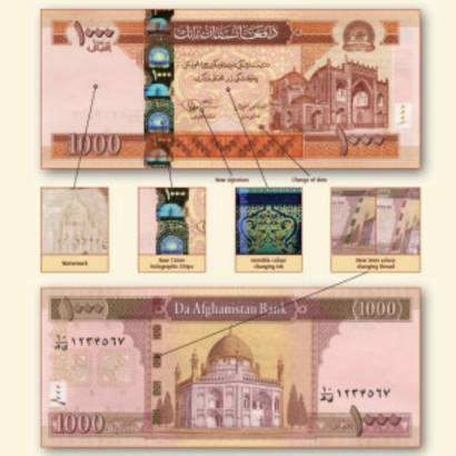 عکس پول رایج افغانستان