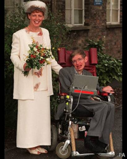 Stephen Hawking con Elaine Mason