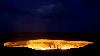 Turistas cerca del cráter