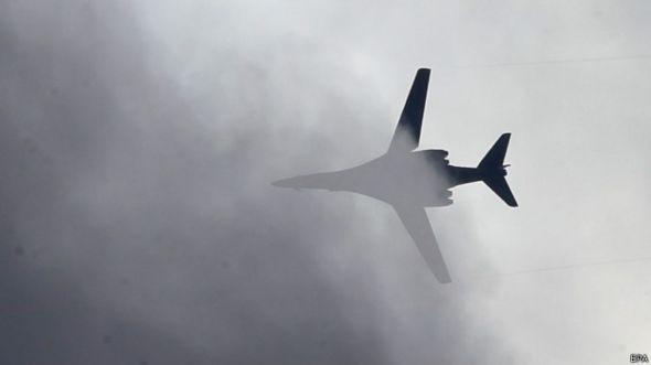 Avión de comabte sobre Siria