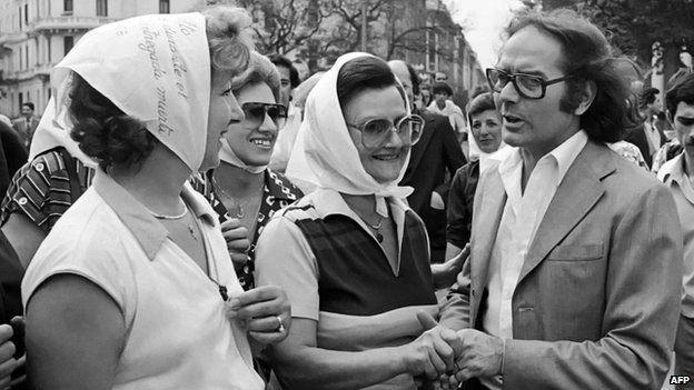 Estela de Carlotto durante sus años de activismo contra la dictadura