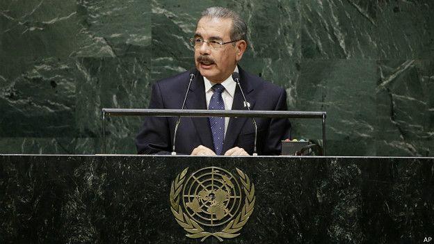 Presidente dominicano Danilo Medina habla ante la ONU.