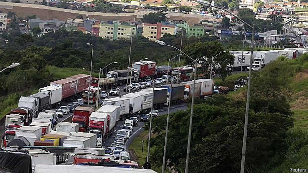 Camiones en Brasil