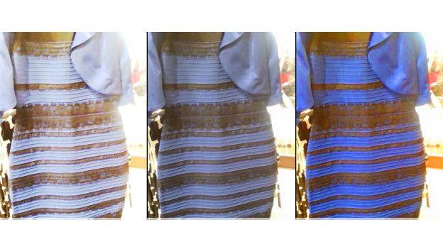 Vestido azul branco e dourado