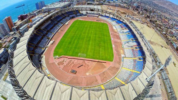 Vista aérea del estadio Regional de Antofagasta