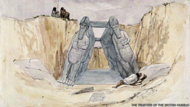 Pintura de las excavaciones