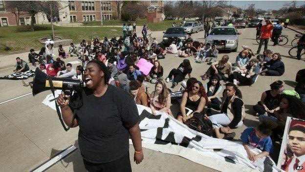 Protesta en Madison, Wisconsin