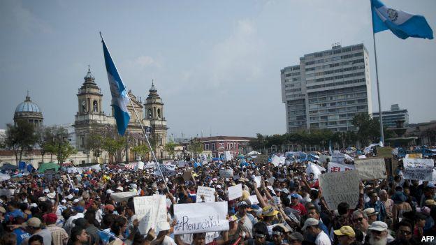 Protestas por escándalo de corrupción en Guatemala