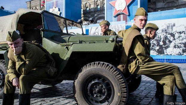 Военные после репетиции парада