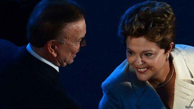 José Maria Marin junto a la presidenta brasileña, Dilma Rousseff