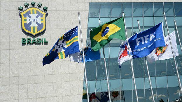 Fachada de la sede de la Confederación Brasileña de Fútbol (CBF) en Río de Janeiro.