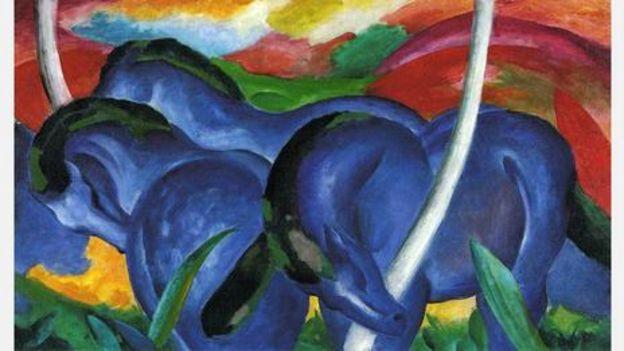 弗朗茨·马克,《蓝色大马》,1911年(图片来源:Wikimedia Commons)