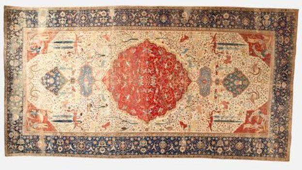 加冕地毯,1520-30(图片来源:洛杉矶艺术博物馆)