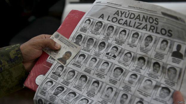 Imagen de los estudiantes desaparecidos