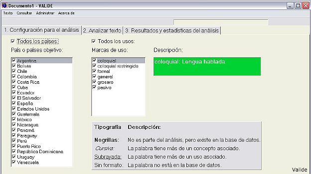Programa Variación Léxica Internacional del Español (Valide)