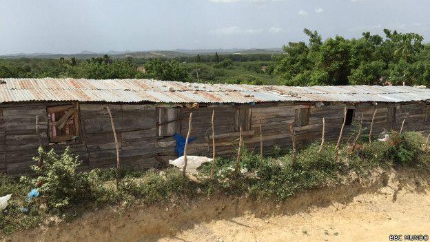 Casas de haitianos en Ranchadero.