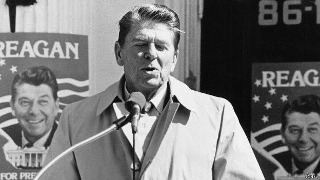 El presidente Ronald Reagan