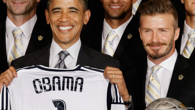David Beckham y Barack Obama