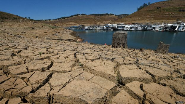 Lagos de California afectados por la sequía