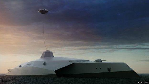 El barco con drones