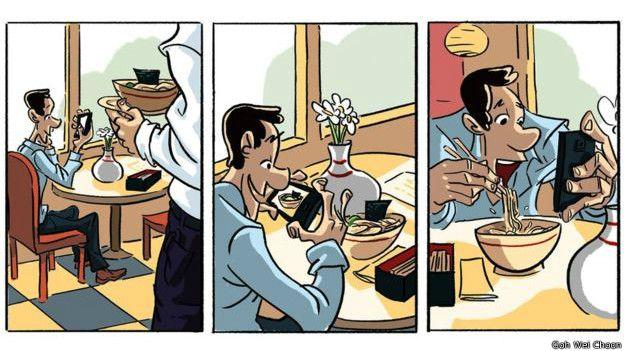 GOH WEI CHOON Image caption Saat Anda makan di restoran, apakah ada orang yang memotret makanannya dengan ponsel?