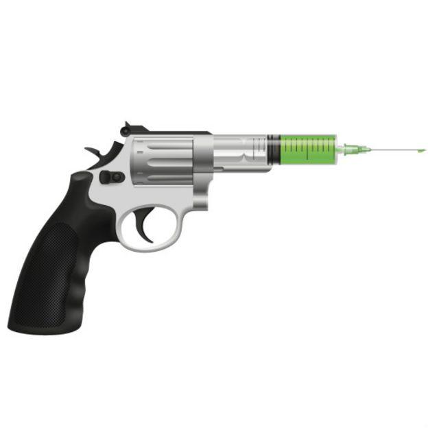 Пистолет, переходящий в шприц