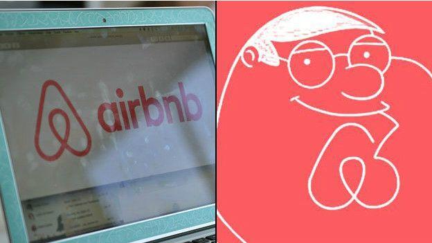 Logo de Airbnb e imagen de Peter Griffin