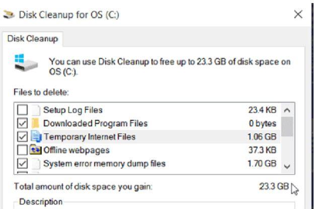 Los archivos innecesarios y los temporales pueden llegar a ocupar mucho espacio en la memoria del disco duro.