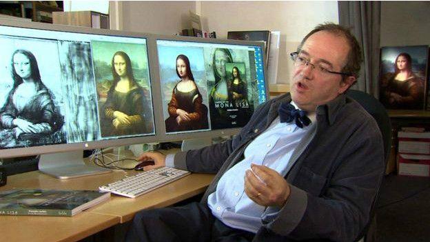 retrato escondido bajo la Mona Lisa -3