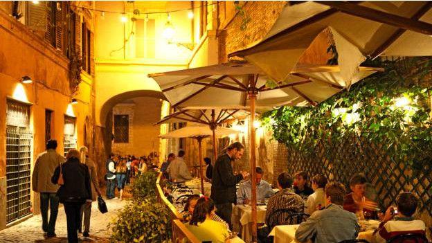 Restaurantes en el Travestere romano