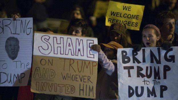 Protesta en contra de Trump