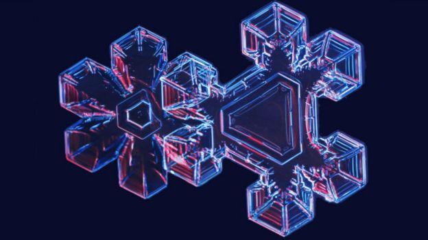 Copo de nieve (Crédito: Ken Libbrecht)