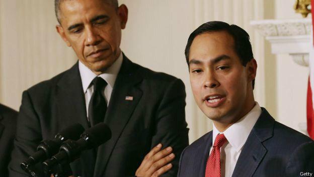 Джулиан Кастро и Обама