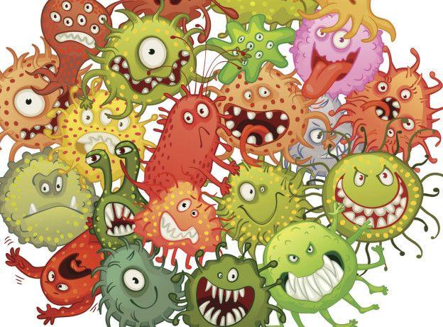 Бактерии, рисунок