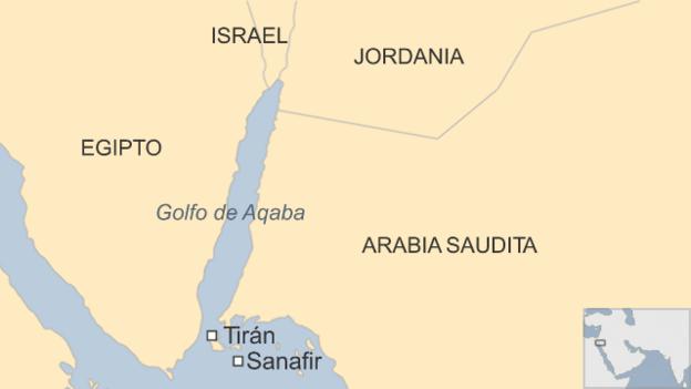 Resultado de imagen para islas de Tirán y Sanafir.